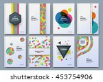 abstract composition. patch... | Shutterstock .eps vector #453754906