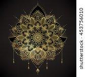 vector ornamental lotus flower  ... | Shutterstock .eps vector #453756010