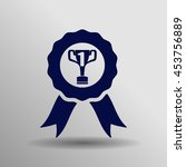 winner icon in trendy flat...