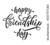 happy friendship day classic... | Shutterstock .eps vector #453757183
