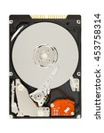 opened hard disk drive  hdd ... | Shutterstock . vector #453758314