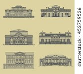 old classic buildings facades... | Shutterstock .eps vector #453759526