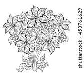 hand drawn ink pattern....   Shutterstock .eps vector #453761629