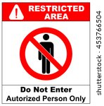 vector circle prohibited sign... | Shutterstock .eps vector #453766504