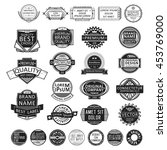 set of insignias  badges ... | Shutterstock .eps vector #453769000