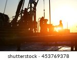 oil drilling exploration  the... | Shutterstock . vector #453769378
