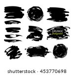 grunge ink vector background... | Shutterstock .eps vector #453770698