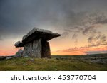 Poulnabrone Dolmen At Sunset....