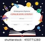 kindergarten diploma with... | Shutterstock .eps vector #453771283