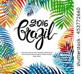 vector summer poster  banner or ... | Shutterstock .eps vector #453772660