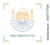 indian independence day with... | Shutterstock .eps vector #453777709