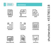 flat symbols about statistics.... | Shutterstock .eps vector #453780118