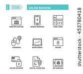 flat symbols about online... | Shutterstock .eps vector #453780418
