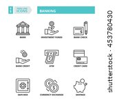 flat symbols about banking.... | Shutterstock .eps vector #453780430