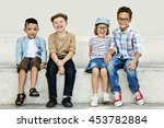 kids fun children playful... | Shutterstock . vector #453782884