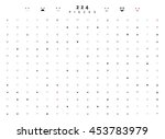 emoticon emotions doodle set... | Shutterstock .eps vector #453783979
