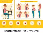 man office syndrome info... | Shutterstock .eps vector #453791398
