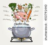 vector chicken soup ingredients ...