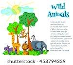 cute cartoon wild africa... | Shutterstock .eps vector #453794329