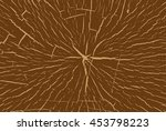 texture of the wood cross cut ... | Shutterstock .eps vector #453798223