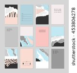 collection of trendy creative... | Shutterstock .eps vector #453806278