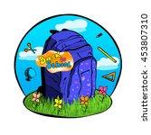 vector illustration school bag  ... | Shutterstock .eps vector #453807310
