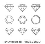 set of diamonds isolated on a... | Shutterstock .eps vector #453821530