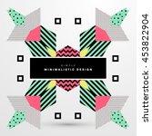 trendy geometric flat pattern ... | Shutterstock .eps vector #453822904
