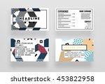 annual report brochure template ... | Shutterstock .eps vector #453822958