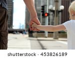 father holding  the daughter ...   Shutterstock . vector #453826189