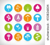 tree icons | Shutterstock .eps vector #453826834