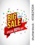sale banner template design ... | Shutterstock .eps vector #453829204