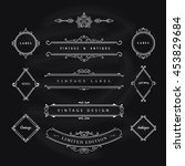 vintage banner elements... | Shutterstock .eps vector #453829684