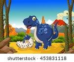 funny cute dinosaur cartoon...   Shutterstock .eps vector #453831118