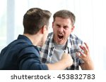 two angry friends or roommates... | Shutterstock . vector #453832783