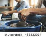 craftsman artist pottery skill... | Shutterstock . vector #453833014