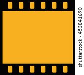 film strip icon vector. yellow... | Shutterstock .eps vector #453841690