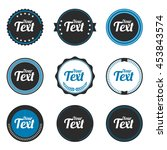set of round badge shape vector ... | Shutterstock .eps vector #453843574