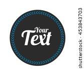 round badge shape vector... | Shutterstock .eps vector #453843703