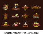 happy janmashtami festival... | Shutterstock .eps vector #453848503