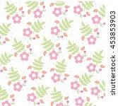 flower love lovely wedding icon ... | Shutterstock .eps vector #453853903