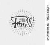 fitness   badges  lettering ... | Shutterstock .eps vector #453858694