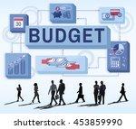 budget finance money income...   Shutterstock . vector #453859990