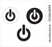start icon and power button set ... | Shutterstock .eps vector #453863899