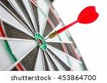 dart arrow hitting in the... | Shutterstock . vector #453864700