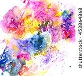 watercolor background....   Shutterstock . vector #453864868