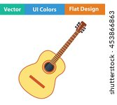 acoustic guitar icon. flat...