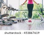 fitness concept. healthy... | Shutterstock . vector #453867619