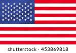 united states flag   3d... | Shutterstock . vector #453869818