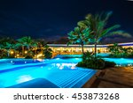 swimming pool at a luxury... | Shutterstock . vector #453873268